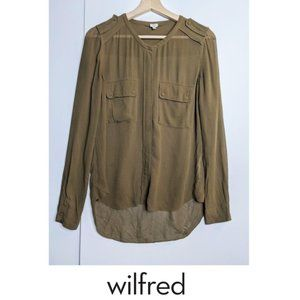 Aritzia Wilfred | Silk blouse